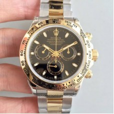 Replica Rolex Daytona Cosmograph 116503 3A 18K Yellow Gold Wrapped & Stainless Steel Black Dial