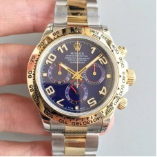 Replica Rolex Daytona Cosmograph 116503 3A 18K Yellow Gold Wrapped & Stainless Steel Blue Dial