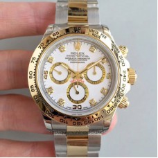 Replica Rolex Daytona Cosmograph 116503 3A 18K Yellow Gold Wrapped & Stainless Steel White Dial