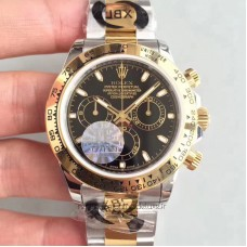 Replica Rolex Daytona Cosmograph 116503 Stainless Steel & Yellow Gold Black Dial