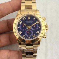 Replica Rolex Daytona Cosmograph 116508 Yellow Gold Blue Dial