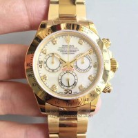 Replica Rolex Daytona Cosmograph 116508 Yellow Gold White Dial Dial