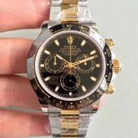 Réplique montre Daytona Cosmograph 116519LN cadran noir en acier inoxydable et en acier inoxydable
