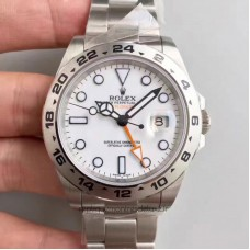 Replica Rolex Explorer II 216570 Stainless Steel White Dial