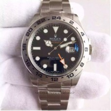 Replica Rolex Explorer II 216570 Stainless Steel Black Dial