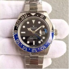 Replica Rolex GMT-Master II 116710BLNR Batman Stainless Steel Black Dial