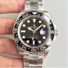 Replica Rolex GMT-Master II 116710LN Stainless Steel Black Dial