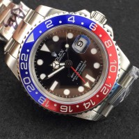 Replica Rolex GMT-Master II 116719BLRO Stainless Steel Black Dial