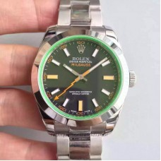 Replica Rolex Milgauss 116400GV Stainless Steel Black Dial