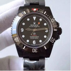Replica Rolex Submariner 114060 Fragment PVD Black Dial