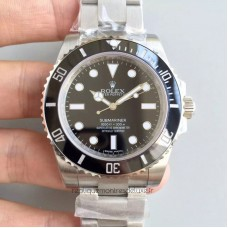 Replica Rolex Submariner 114060 Stainless Steel Black Dial