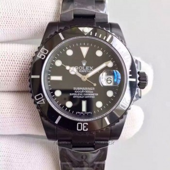 Replica Rolex Submariner Date 116610LN PVD Black Dial