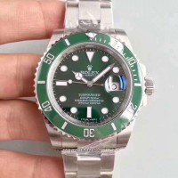 Replica Rolex Submariner Date 116610LV Stainless Steel Green Dial
