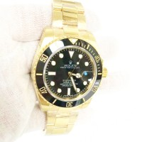 Réplique montre Submariner Date 116618LN Cadran Noir - Or Jaune