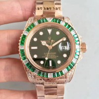 Réplique montre Submariner Date 116618LV Cadran Vert - Or Rose