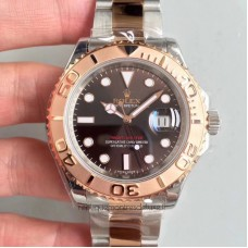 Replica Rolex Yacht-Master 40 116621 Stainless Steel & Rose Gold Chocolate Dial