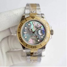Replica Rolex Yacht-Master 40 116622 Stainless Steel & Yellow Gold Blue Mother Of Pearl Dial