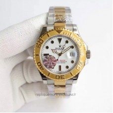 Replica Rolex Yacht-Master 40 116622 Stainless Steel & Yellow Gold White Dial
