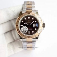 Replica Rolex Yacht-Master 40 116623 Stainless Steel & Rose Gold Chocolate Dial