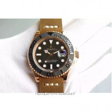 Replica Rolex Yacht-Master 40 116655 Rose Gold Black Dial