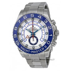 Replica Rolex Yacht-Master II 116680 Stainless Steel White Dial