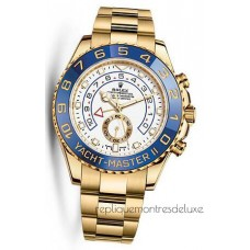 Replica Rolex Yacht-Master II 116688 Yellow Gold White Dial
