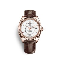 Réplique Rolex Sky-Dweller 18 carats or Everose M326135-0006