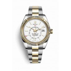 Rolex Sky-Dweller Yellow Rolesor Oyster Steel Yellow Gold 326933 White Dial