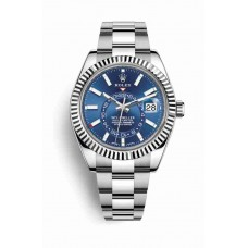 Rolex Sky-Dweller White Rolesor Oyster Steel White Gold 326934 Blue Dial