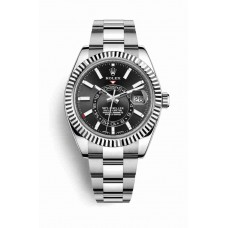 Rolex Sky-Dweller White Rolesor Oyster Steel White Gold 326934 Black Dial