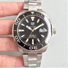 Replica Tag Heuer Aquaracer Calibre 5 WAY201A.BA0927 Stainless Steel Black Dial