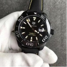 Replica Tag Heuer Aquaracer Calibre 5 WAY218A.FC6362 Black Titanium Black Dial