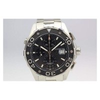 Réplique Tag Heuer Aquaracer Chronograph 500M Calibre 16 Stainless Steel Black Dial Calibre 16
