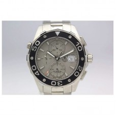 Replica Tag Heuer Aquaracer Chronograph 500M Calibre 16 Stainless Steel Gray Dial Calibre 16