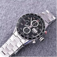 Replica Tag Heuer Carrera Calibre 16 CV2A10 Stainless Steel Black Dial Calibre 16