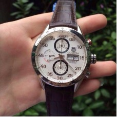 Réplique Tag Heuer Carrera Calibre 16 CV2A11 Stainless Steel White Dial Calibre 16
