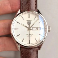 Replique Tag Heuer Carrera Calibre 5 Day-Date 41MM WAR201B. FC6291 Acier inoxydable Blanc Cadran Calibre 5