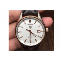 Replique Tag Heuer Carrera Calibre 5 Rose Gold et Stainless Steel White Dial Calibre 5