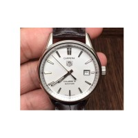 Réplique Tag Heuer Carrera Calibre 5 Stainless Steel White Dial Calibre 5