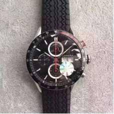 Replica Tag Heuer Carrera Monaco Grand Prix Calibre 16 CV2A1F Stainless Steel Black Dial Calibre 16