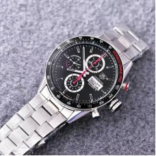 Replica Tag Heuer Carrera Monaco Grand Prix Calibre 16 CV2A1M Stainless Steel Black Dial Calibre 16