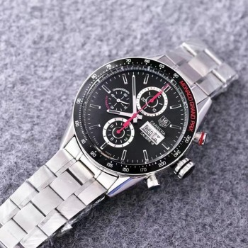 Réplique Tag Heuer Carrera Monaco Grand Prix Calibre 16 CV2A1M Stainless Steel Black Dial Calibre 16