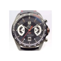 Replique Tag Heuer Grand Carrera Calibre 17 RS2 Titanium Black Dial
