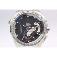 Replique Tag Heuer Grand Carrera Calibre 36 RS Stainless Steel Black Dial